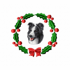bc2wreath Border Collie (small or large design)
