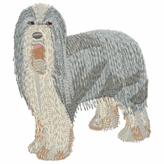 bearded001 Bearded Collie (small or large design)