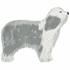 bearded002 Bearded Collie (small or large design)