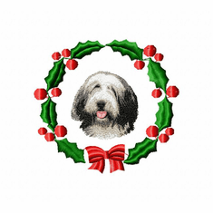 beardie1wreath Bearded Collie (small or large design)