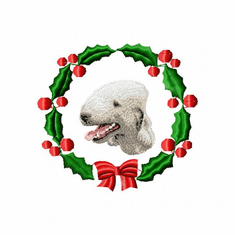 bed1wreath Bedlington Terrier (small or large design)