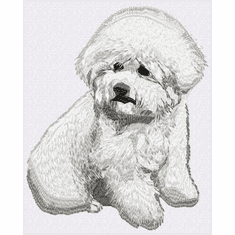 bichon024 Bichon Frise (small or large design)