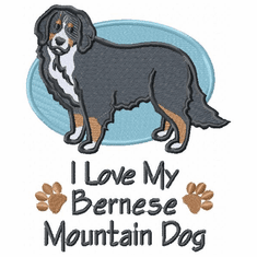 bmd022 Bernese Mountain Dog (small or large design)