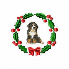 bmd1wreath Bernese Mountain Dog (small or large design)