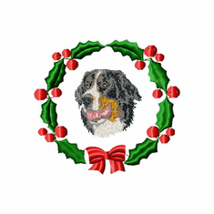 bmd2wreath Bernese Mountain Dog (small or large design)