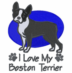 boston033 Boston Terrier (small or large design)