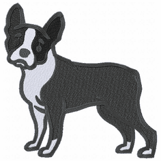 boston034 Boston Terrier (small or large design)