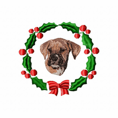 boxer1wreath Boxer (small or large design)
