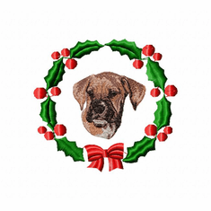boxer3wreath Boxer (small or large design)