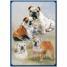 Bulldog Playing Cards