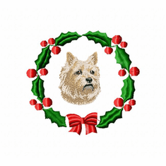 cairn1wreath Cairn Terrier (small or large design)