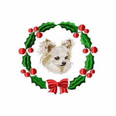 chihuahua2wreath Chihuahua (small or large design)
