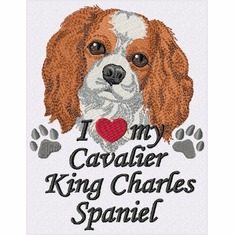 ckcs025 Cavalier King Charles Spaniel (small or large design)