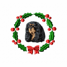 ckcs2wreath Cavalier King Charles Spaniel (small or large design)