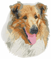 collie040 Rough Collie (small or large designs)