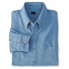 Denim Shirt With Design