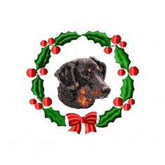 doxie1wreath Dachshund (small or large design)