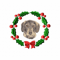 doxie2wreath Dachshund (small or large design)