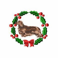 doxie3wreath Dachshund (small or large design)