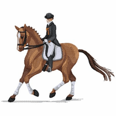 dressage001 Dressage/English Rider (small or large design)