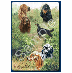 English Setter Playing Cards