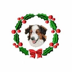 engshep1wreath English Shepherd (small or large design)