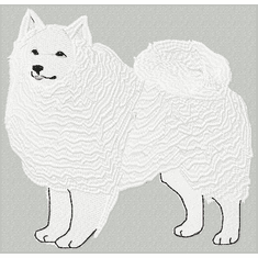 eskimo002 American Eskimo Dog (small or large design)