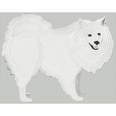 eskimo005 American Eskimo Dog (small or large design)