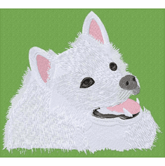 eskimo006 American Eskimo Dog (small or large design)