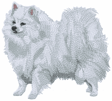 eskimo007 American Eskimo Dog (small or large design)