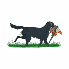fcr002 Flat Coated Retriever  (small or large design)