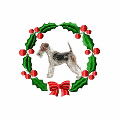 foxter3wreath Fox Terrier (small or large design)