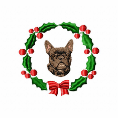 frenchie1wreath French Bulldog (small or large design)