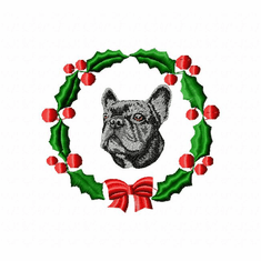 frenchie2wreath French Bulldog (small or large design)