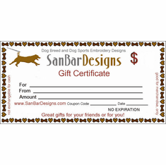 Gift Certificate-You Fill In The Amount