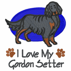 gordon003 Gordon Setter  (small or large design)