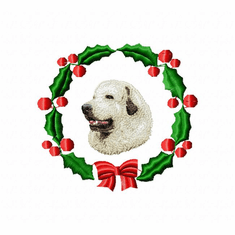 gr8pyr2wreath Great Pyranees (small or large design)
