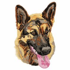 gsd003 German Shepherd Dog (small or large design)