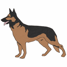 gsd007 German Shepherd Dog (small or large design)