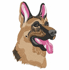 gsd009 German Shepherd Dog (small or large design)