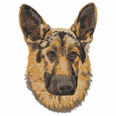 gsd011 German Shepherd Dog (small or large design)