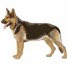 gsd012 German Shepherd Dog (small or large design)