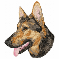gsd014 German Shepherd Dog (small or large design)