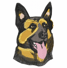 gsd015 German Shepherd Dog (small or large design)