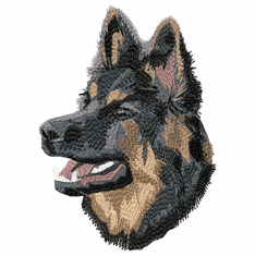 gsd024 German Shepherd Dog (small or large design)