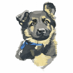 gsd032 German Shepherd Dog (small or large design)