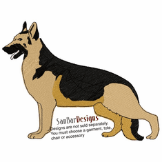gsd037 German Shepherd Dog (small or large design)