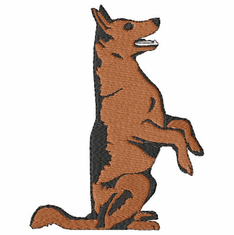 gsd039 German Shepherd Dog (small or large design)