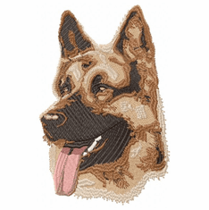 gsd041 German Shepherd Dog (small or large design)