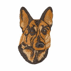 gsd044 German Shepherd Dog (small or large design)